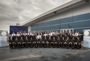 Asia Pacific Submarine Conference 2016 (APSC) official group photograph at the Western Australian Maritime Museum (WAMM) in Fremantle. *** Local Caption *** Asia Pacific Submarine Conference 2016 (APSC) is the 16th iteration of the Conference and is held at the Western Australian Maritime Museum (WAMM), Fremantle, Western Australia 19–21 September 2016. APSC is a regional submarine engagement activity with a primary focus on cooperation in support of submarine escape and rescue that was established by the United States Navy, through Commander, Submarine Force, U.S. Pacific Fleet (COMSUBPAC), in 2001 in the wake of the 2000 Kursk disaster. APSC is an UNCLAS annual forum and is hosted annually on a rotational basis by select submarine capable nations in the Asia-Pacific region with previous host nations including the United States, Japan, Republic of Korea, Malaysia, Singapore and Australia. Australia last hosted APSC in 2004 also in Fremantle, W.A. APSC is chaired by Director General Submarines Commodore Peter Scott CSC, RAN. The conference will be formally opened by Head Navy Capability Rear Admiral Jonathon Mead AM, RAN.